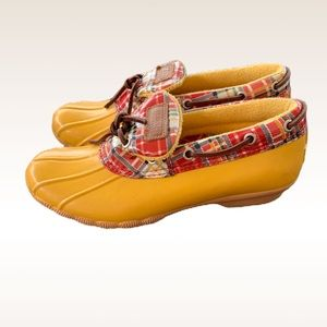 Sperry Top-Sider Low Rise Yellow Rain Boots